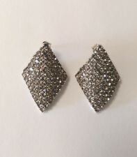 Grey Crystal  Geometric Shape Stud Earring