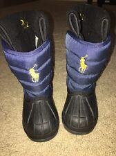 Polo Ralph Lauren Kids Vancouver EZ Snow Winter Boots Navy/Black Size 6