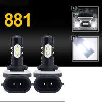 2*HIGH POWER 881 LED Fog Light Bulbs Car HID White 6000K-6500K Driving Lamps DRL