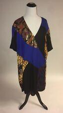 NWT SZ 8 Anthropologie Camellia Patchwork Dress By HD in Paris Kimono Silhouette