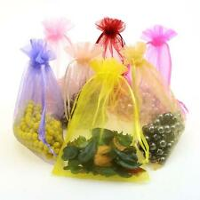 50 pcs Organza Bags Wedding Jewellery Gift Favour Pouch 7x9 9x12 Luxury Quality