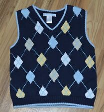 Janie & Jack Sweater Vest Toddler Boys Sz 2T Argyle Pattern