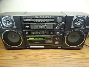 JVC PC-2 Portable Stereo Cassette Player Boombox - needs repair