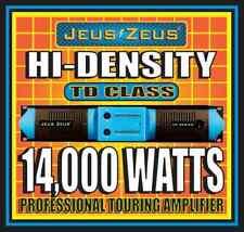 JEUS ZEUS MP-14000 STEREO PROFESSIONAL HI-DENSITY POWER AMPLIFIER