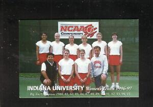 Indiana Hoosiers--1996-97 Tennis Schedule--Varsity Club