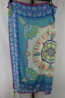 Juniper Womens Ladies Blue Multi Color Print  Square Scarf NEW With Tags