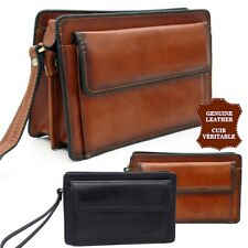 Bag Satchel hand calfskin leather real top range pouch man