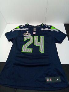 Super Bowl XLVIII Marshawn Lynch Nike On Field Jersey size medium