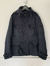 Ralph Lauren Purple Label Blue Water Repellent Hooded Cargo Jacket Size Large
