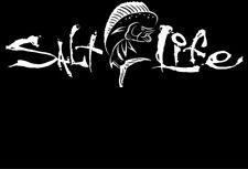 "Salt Life Signature MAHI car windshields trucks Boards ""WHITE"" Vinyl Decal NEW"