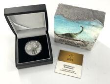 2021 Niue 1oz .999 Fine Silver $2 Brontosaurus Dinosaur Coin Antiqued W/ Box Coa