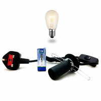 Lamps Lead Replacement Electrical Fittings Spare Cord Set UK Pin Cable+Bulbs