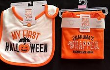 baby Boy Girl Carters Halloween Bib Snap Bottom Tee Grandma newborn New Mummy @