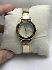 Armitron Now Quartz Gold Tone Watch Mother of Pear Dial 75/5093GP 28mm Womens-HS