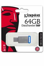 Kingston Datos Viajero 50 64GB USB 3.1/3.0/2.0 Memoria Memoria Memoria Externa