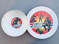 Vintage 1982 GI Joe Deka Plate Cereal Bowl Set Snake Eyes Scarlett Rock N Roll