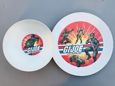 Vintage 1982 GI Joe Deka Plate Cereal Bowl Set Snake Eyes Scarlett Rock N Roll