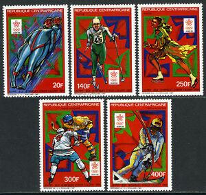Central Afrique 858-862, Mi 1287-1291, Mnh.winter Olympics, Calgary.hockey, Luge