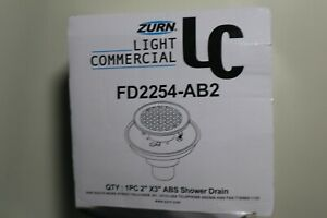 """Zurn FD2254-AB2-CS4 ABS Square Shower Drain with 4"""" Square Chrome-Plated Brass"""