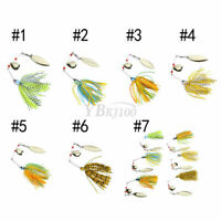 Buzzbait Fishing Lure Spinning Bait Jigs Leadhead Crankbait Tackle Hooks #2 ♡
