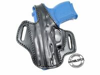 OWB Thumb Break Leather Belt Holster for Smith & Wesson M&P Shield 9mm