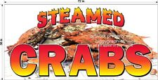 3' x  6' VINYL BANNER STEAMED CRABS SEAFOOD REAL PHOTO NEW!