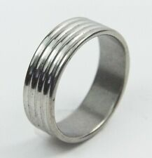 Men's Stainless Steel Band ring UK Size W