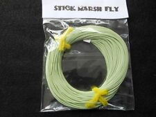 STICK MARSH FLY LINE WF-7-F  WITH WELDED LOOPS ON BOTH ENDS --MOSSY GREEN