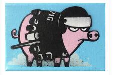 Mau Mau TACTICAL Hand Painted  mini Pig canvas Signed Limited Edition