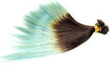Haarverlängerung Hair Extensions Ombre Style Echthaar Strähnen mit Spitze NEU