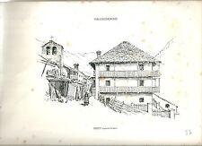 1880 SEREY MAISON FRASSY VALGRISENCHE vedute Valle d'Aosta litografia alpinismo