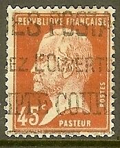 """FRANCE TIMBRE STAMP N°175 """"TYPE PASTEUR, 45 C ROUGE"""" OBLITERE TB"""