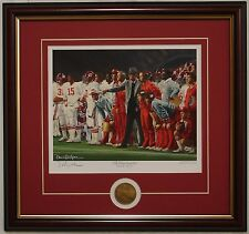 ALABAMA Bear Bryant  The Coach & 315 framed print & coin signed by Daniel Moore