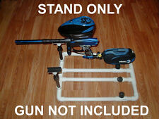 DUAL PAINTBALL GUN STAND,FITS, DYE,LUXE,BOB LONG,EGO, MACDEV,FULLY ADJUSTABLE