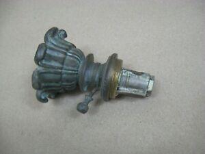 Antique Bronze Argand Astral Oil Lamp Tank Bottom w/ Flame Adjuster Parts Repair