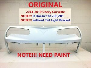 2014 2015 2016 2017 2018 2019 OEM chevy corvette rear bumper cover need paint #9
