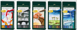 Faber Castell Tuschestift PITT artist pen brush basic landscape terra blue grey