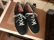 ECCO MEN'S casual BLACK NUBUCK WITH LACE UP SHOES 5 EYE SIZE 46- US Sz-11.5-12