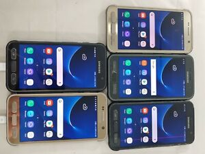 LOT of 5 Samsung Galaxy S7 Active G891A GSM Locked/Unlocked Smartphone #958
