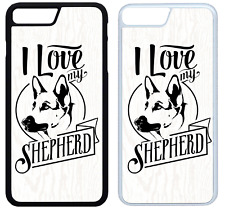I Love My German Shepherd Phone Case Cover iPhone 4 5 6 7 8 X XR XS Max Plus