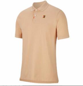 Nike Men's The Heritage Standard Dri-Fit Tennis Polo CJ9524-268 Coral Sz Small