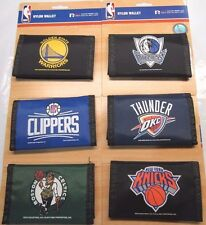 NBA Printed Tri-Fold Nylon Wallet RICO Industries Select Team From List Below
