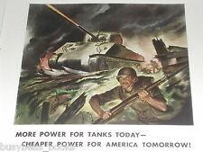 1943 General Motors Diesel ad, Sherman tank, GMC