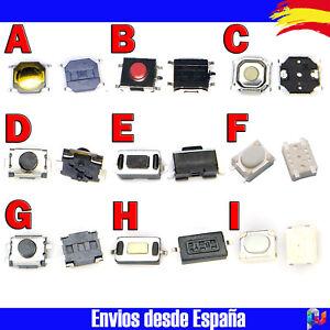 Pulsador Mando Coche Micro Pulsador Momentaneo 10 Unidades x Modelo a Elegir