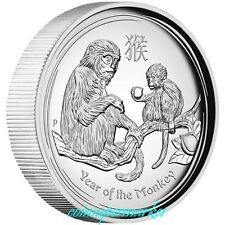 New Listing2016 Australia Lunar Year Of Monkey High Relief Proof Silver Coin Perth Coa Box