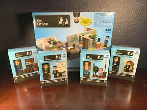 NEW Building Blocks THE OFFICE DUNDER MIFFLIN Minifigures Dwight Jim Pam Lot Set