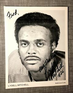 Lydell Mitchell Signed 8x10 Photo Baltimore Colts Auto Autograph FREE SHIP