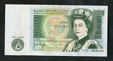 One Pound Bank of England Note: 57C 989388