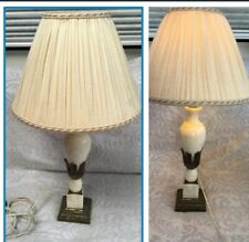 Vintage Marble And Brass Table Lamp
