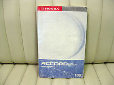 1991 Honda Accord Car Owners Instruction Book Manual English/French